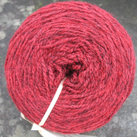 Hand-dyed Pure Jacob Light Aran Wool Cherry 100g
