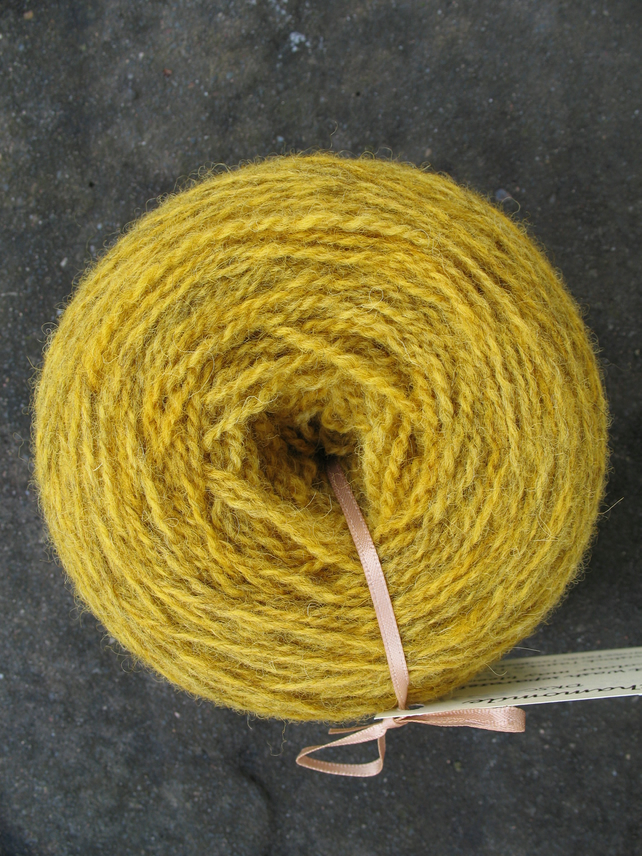 Hand-dyed Pure Jacob Double Knitting Wool Chamomile 100g