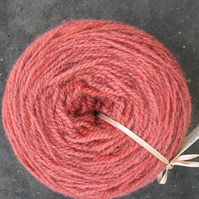 Hand-dyed Pure Jacob Double Knitting Wool Peach 100g