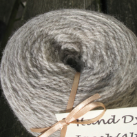Hand-dyed Jacob & Alpaca Light Aran Wool Silver 100g