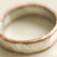 Sterling silver band with copper