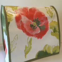 Painterly Poppy Floral Print PVC Food Mixer Cover KMix KitchenAid