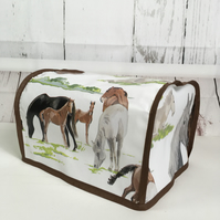 Horse & Pony Mare Foal PVC 4 slice Toaster Cover - Morphy Richards
