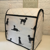 Black Lab Labrador Quilted Calico Mixer Cover Kitchenaid 4.8 L