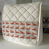 Hand Crafted Freddy Fox Quilted Calico Mixer Cover Kitchenaid 4.8 L