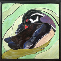 Duck in the Pond - ceramic mosaic