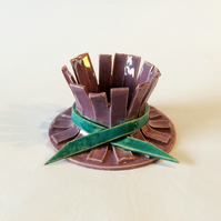 Purple and blue candle holder