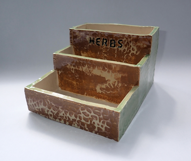 Small box shape herbs pot