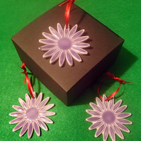 3 porcelain flower tree decoration with box