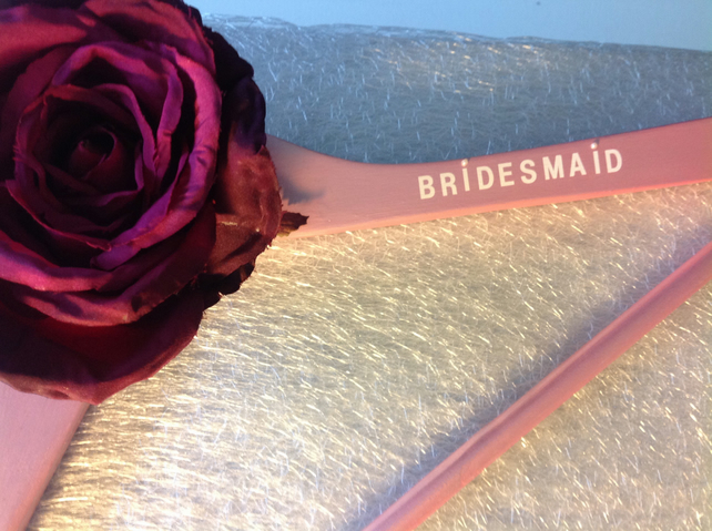 Pearlescent Pink Bridesmaid Hanger