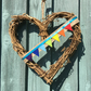home happy - rainbow heart bunting wreath