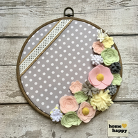 home happy - embroidery hoop hanging decoration