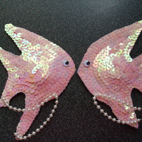 "Nipple pasties ""Gone fishing"""