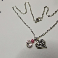 childrens heart necklace