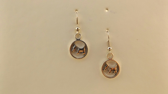 earrings scottie dog charm