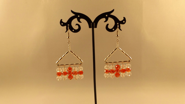 earrings England flag