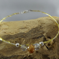 bracelet twisted wire with crystal