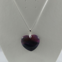 agate pendant and sterling silver chain