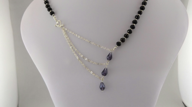 Austrian and crystal necklaces
