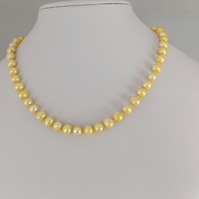 champagne baroque Freshwater Cultured Pearl Necklace