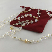 Traditional Rosary with Crystals