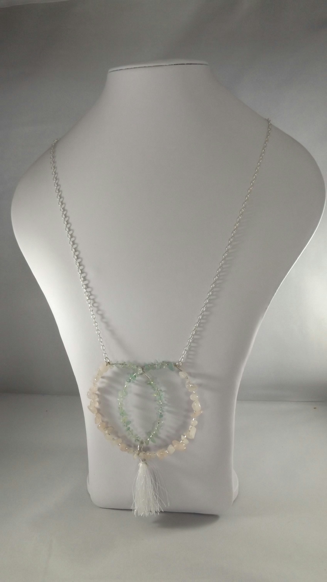 Rose Quartz and Aquamarine Necklace