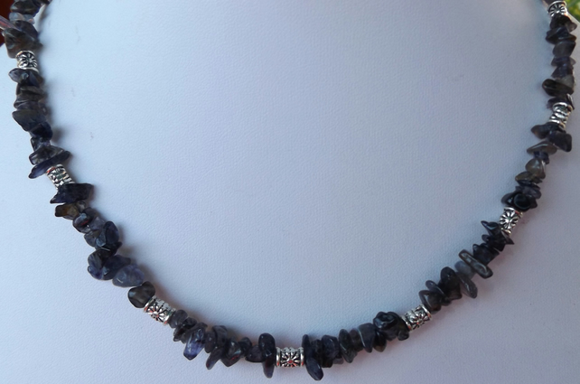 "Iolite 16"" necklace"