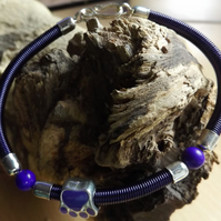Purple Gizmo coiled bracelet