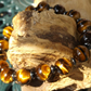 Tigers eye and hematite stretch bracelet