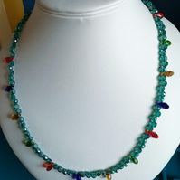 Austrian Crystal Christmas Necklace