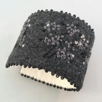 Soft Wool Embroidered Cuff