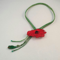 Poppy Textile Necklace