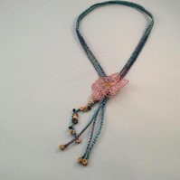 Textile Blossom Necklace