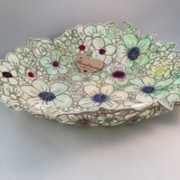 Embroidered Textile Bowl