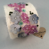 Embroidered Textile Cuff
