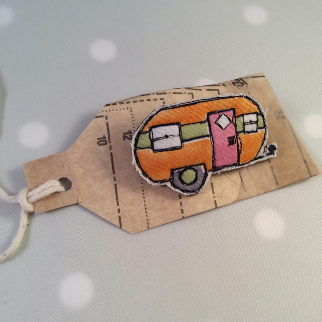 Little caravan brooch