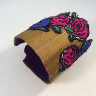 Embroidered Silk Cuff