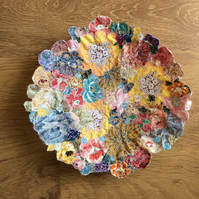 Large Vintage Fabric Bowl