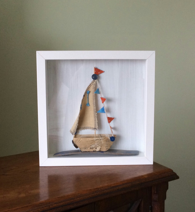 Sailing Boat In a Box Frame