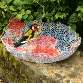 Goldfinch Textile Bowl