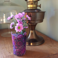 Textile Posy Vase or LED Tea Light Holder