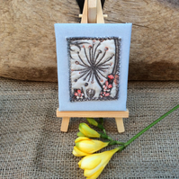 Minature Textile Canvas with Easel