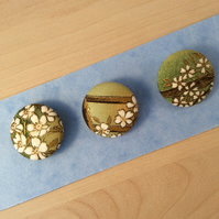 Japanese Blossom Fabric Buttons