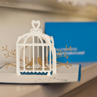 Lovebirds Pop Up Card