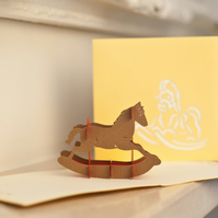 Rocking Horse Pop Up Card