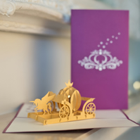 Unicorn Carriage Pop Up Card