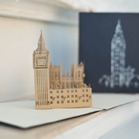 Palace of Westminster Pop Up Card