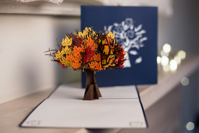 Autumn Leaves Pop Up Card