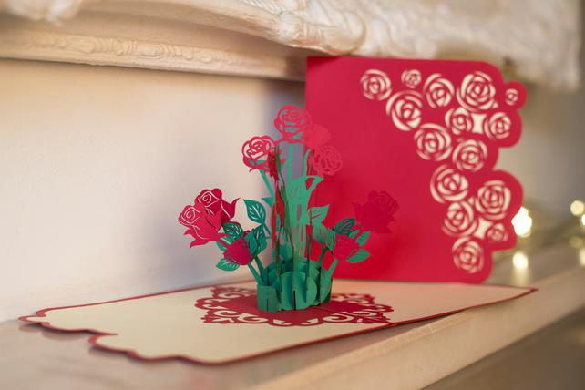 Bouquet of Rose Pop Up Card