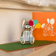 Celebration Bunny Pop Up Card